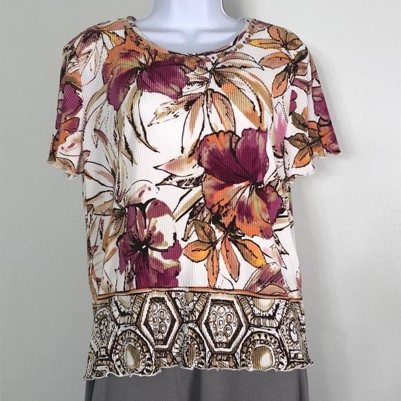 b18214440e2efb Alfred dunner tops floral print wembellished neck top poshmark jpg 580x580 Dunner  tops alfred dresses